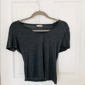 Zara V- Neck Scoop T-Shirt